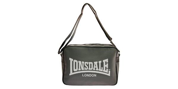 Dámská tmavě šedá taška přes rameno Lonsdale s černým lemem