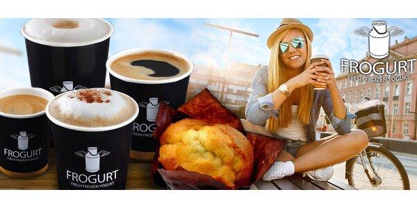 Káva nebo čaj a jogurtový muffin z Frogurtu