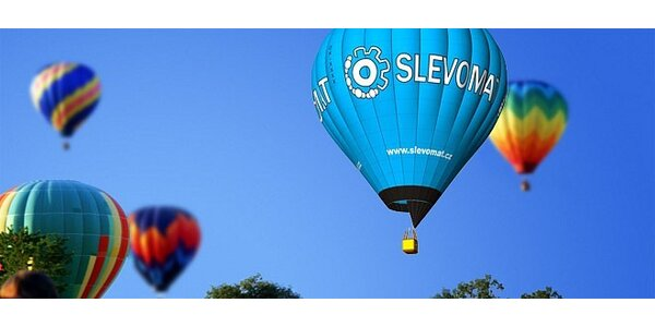 60minutový let horkovzdušným balonem