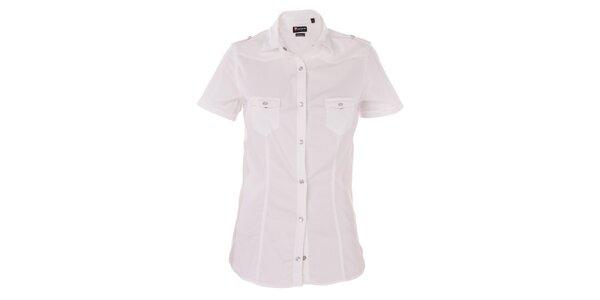Dámská bílá košile 7camicie s patentky