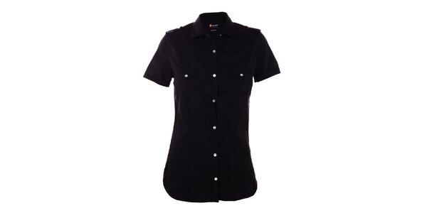Dámská černá košile 7camicie s patentky