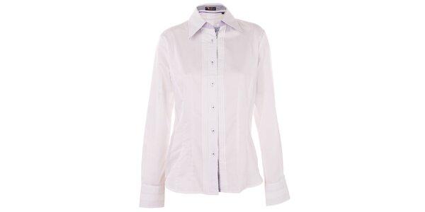 Dámská bílá košile 7camicie s modrou pruhovanou légou