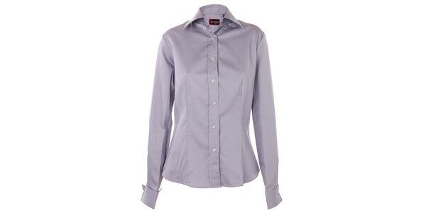 Dámská šedá saténová košile 7camicie