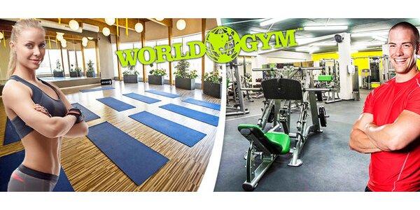 Jednorázový vstup s wellness do luxusního fitness World Gym