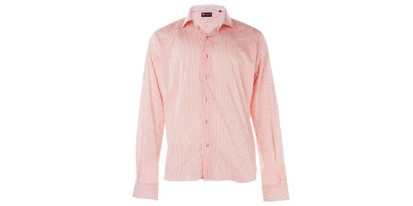 Pánská červená proužkovaná košile 7camicie