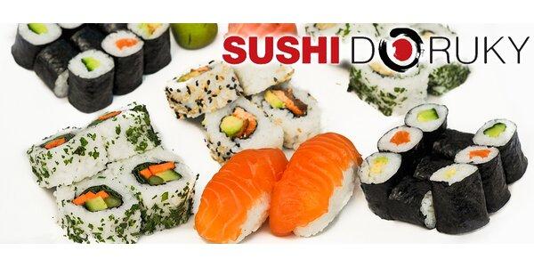 28 rolek vynikajícího sushi s rozvozem v ceně