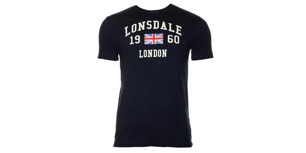 Pánské tmavě modré tričko s krátkým rukávem Lonsdale