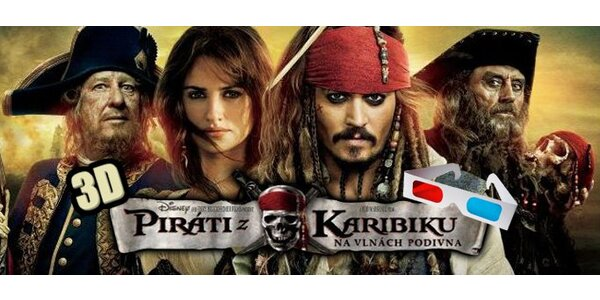 83 Kč za premiéru filmu Piráti z Karibiku ve 3D!