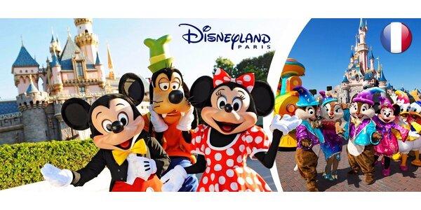 4-denní pohádkový Disneyland se vstupenkou i nocí v hotelu