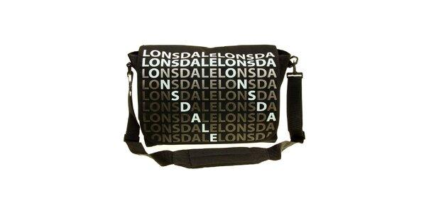 Pánská černá taška přes rameno Lonsdale