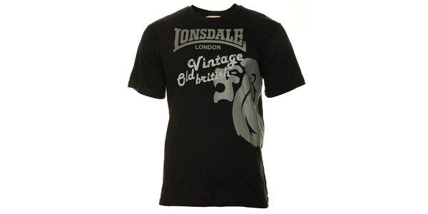 Pánské černé tričko s krátkým rukávem Lonsdale