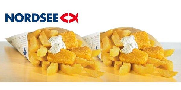 2× Fish & Chips s sebou z restaurace NORDSEE v Praze i v Brně