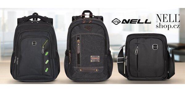 Černé batohy NELL