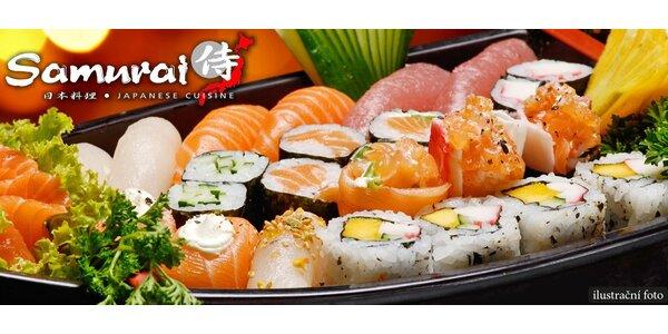 Japonské sushi menu pro 2 v restauraci Samurai
