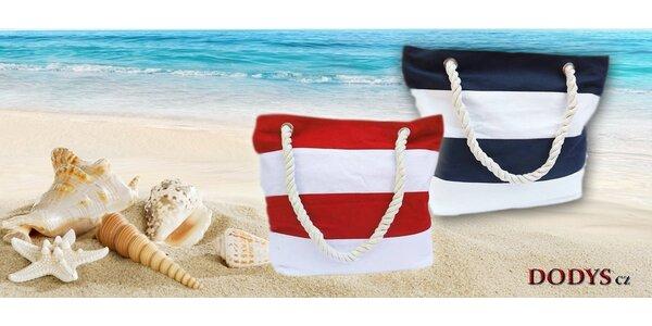 Letní plážové tašky s lanovými uchy
