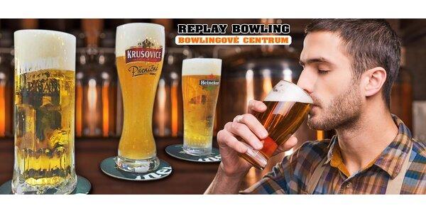 3 výborná pivka v Replay Bowling Centru