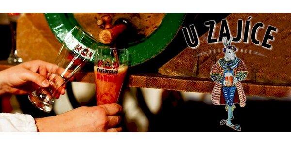 Jedinečná piva z Kynšperského pivovaru a bramboráčky v resturaci U zajíce