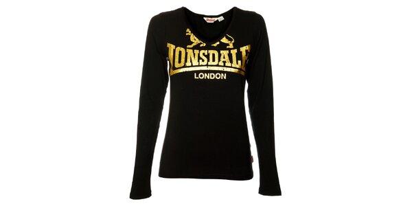 Dámské černé tričko s dlouhým rukávem Lonsdale