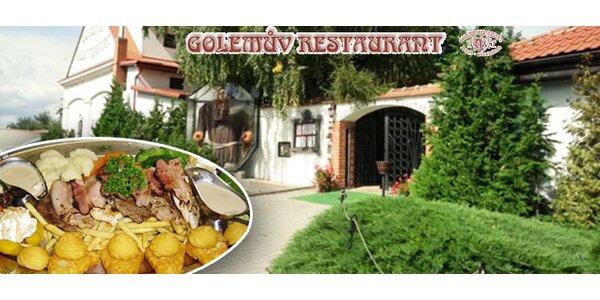 Masová hostina pro 2 osoby v Golemově restaurantu