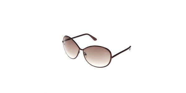 Dámské sluneční brýle Tom Ford s hnědými obroučkami