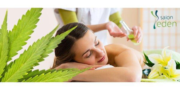 Hodinová aromaterapeutická konopná masáž
