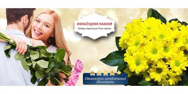 Květiny pro státnice či vysvědčení nebo jen pro radost s rozvozem po Praze…