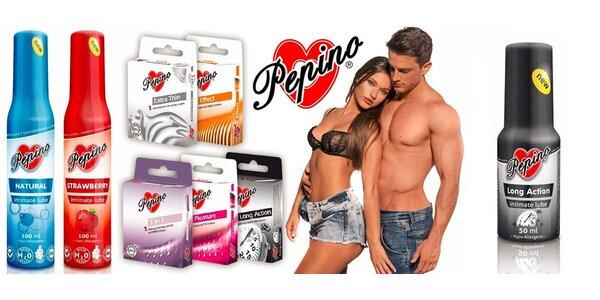 Kondomy a lubrikační gely Pepino s dopravou