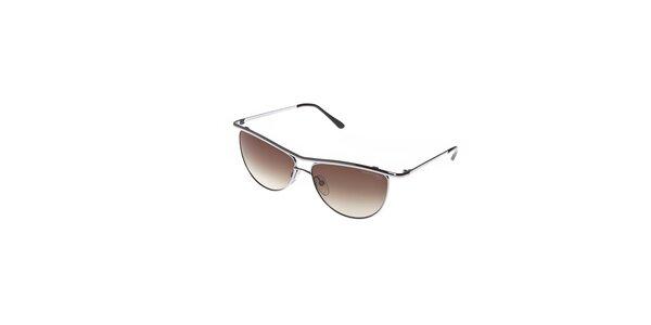 Dámské sluneční brýle Tom Ford se stříbrnými obroučkami