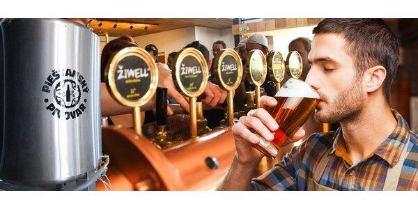 Prohlídka Piešťanského pivovaru s degustací piva