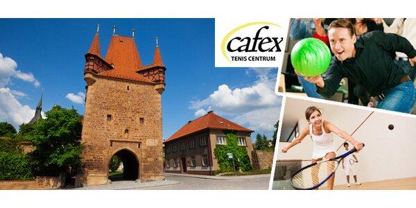 Sportovní pobyt v areálu Tenis Centrum Cafex