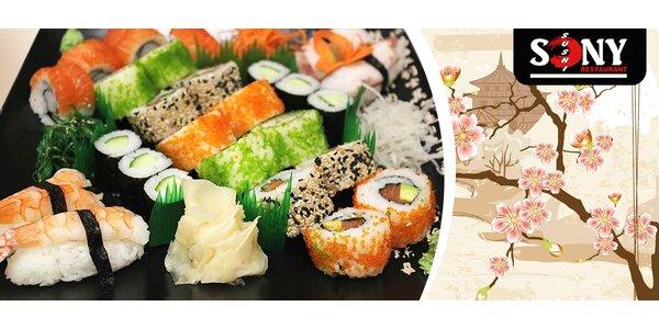Sety lahodných sushi specialit v restauraci Sony