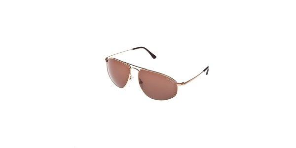 Sluneční brýle Tom Ford se zlatými obroučkami