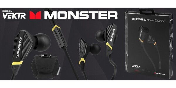 Kvalitní sluchátka Monster VEKTR Diesel