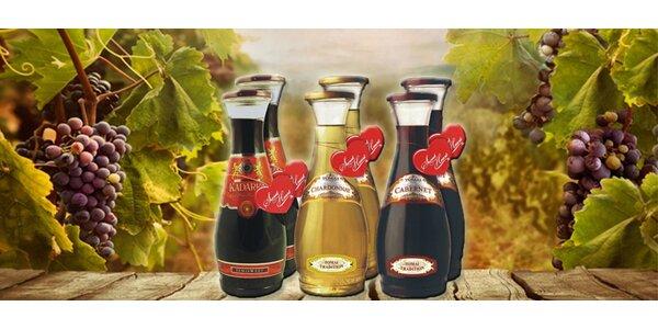 Degustační sada 6 moldavských vín Tomai