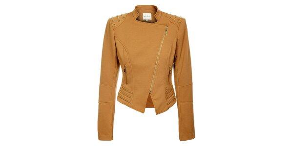 Dámský světle hnědý kabátek Lucy Paris