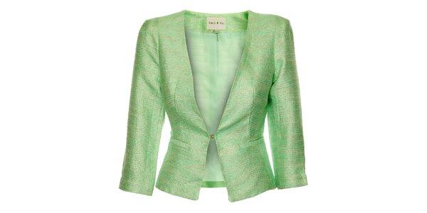 Dámské pastelově zelené sako Lucy Paris