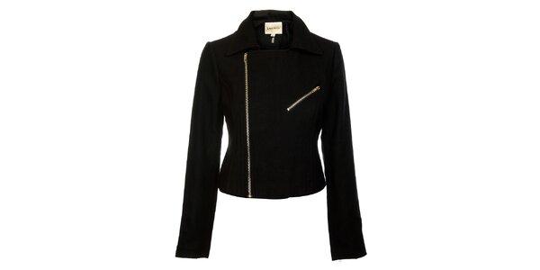 Dámský černý kabátek Lucy Paris se zipem