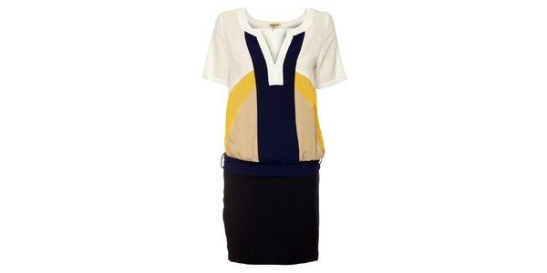 Dámské černo-modro-bílé šaty Lucy Paris