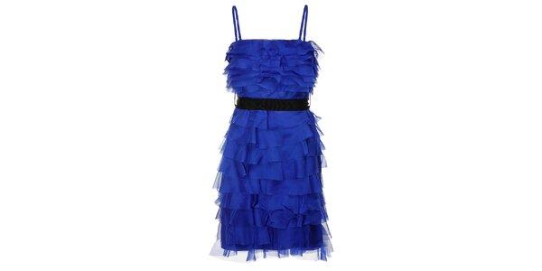 Dámské sytě modré charlestonové šaty Lucy Paris