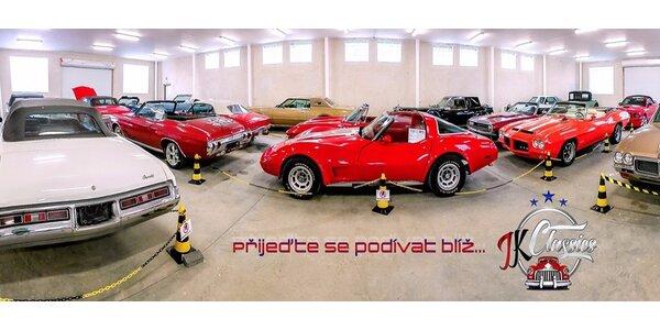 Vstupenka do nového muzea amerických historických automobilů JK CLASSICS