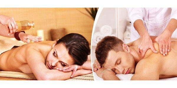 Celotělová relaxační masáž v délce 90 minut