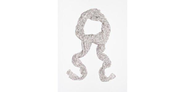 Dámský bílý šátek s jemným vzorkem Bella Rosa