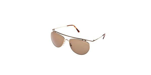 Sluneční brýle Tom Ford se zlatým ozdobným ráfkem