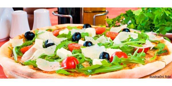 Italská pizza a osvěžující dezert pro dva