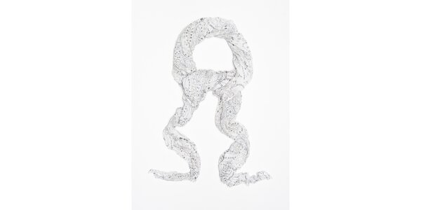 Dámský bílý šátek s potiskem tygří hlavy Bella Rosa