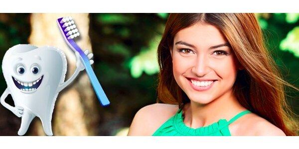 Dentální hygiena včetně air flow - 60 minut