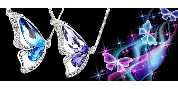 Luxusní náhrdelníky s třpytivými krystaly