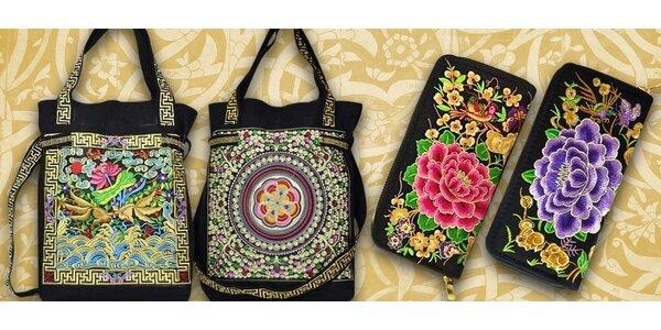Krásné vyšívané kabelky a peněženky