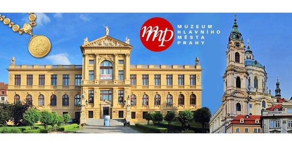 Vstupy do Muzea hl. m. Prahy a na další místa