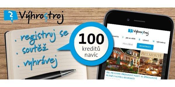 100 kreditů do Výhrostroj.cz a soutěž o iPhone 6